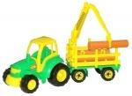 "Traktor mit Holzfrachter "" Champion"""