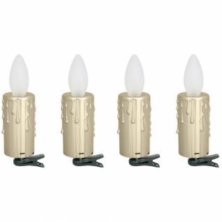 Adventskranzbeleuchtung, 4 goldene Kerzen