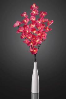 Hellum LED-Orchidee mit roten Blüten u. Dekovase