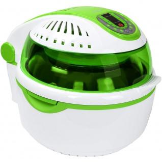 """Syntrox Turbo-Heißluftfritteuse Heißluftgarer Airfryer Küchenmaschine mit LED-Display """" grün"""" - Vorschau 2"""