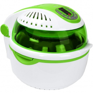 Syntrox Turbo-Heißluftfritteuse Heißluftgarer Airfryer Küchenmaschine mit LED-Display grün - Vorschau 2