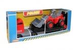 LKW mit Traktor-Lader (im Display)