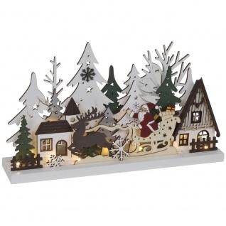 Weihnachtsleuchter Weihnachtsmann 15 warmweiße LEDs,