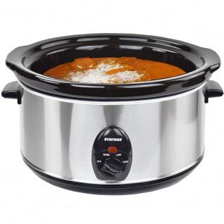 Syntrox 4, 5 Liter Edelstahl Slow Cooker mit Warmhaltefunktion