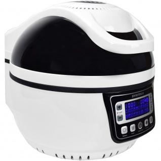 Syntrox Turbo-Heißluftfritteuse Heißluftgarer Airfryer Küchenmaschine mit LED-Display 10 Liter Garraum, max. 250° schwarz - Vorschau 2