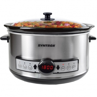 Syntrox Germany Digitaler Slow Cooker 4, 5 Liter mit Timer - Vorschau 3