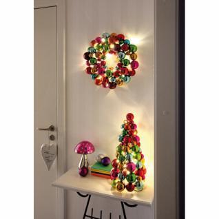 LED-Türkranz, 20 warmweiße LEDs, bunte - Vorschau 2