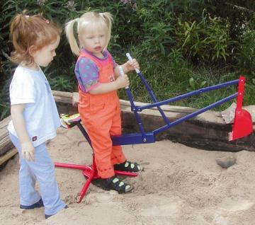 Sandbagger Sitzbagger Sandspielzeug Bagger für Sandkasten