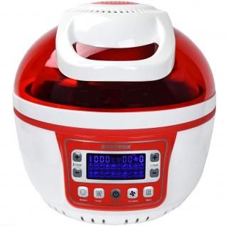 """Syntrox Turbo-Heißluftfritteuse Heißluftgarer Airfryer Küchenmaschine mit LED-Display """" rot"""" - Vorschau 3"""