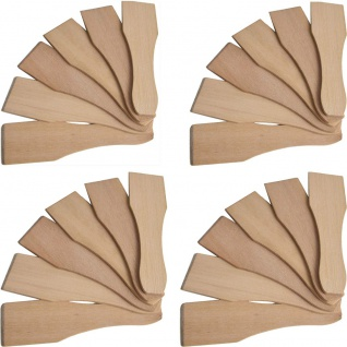 Syntrox Design Universal Holzspatel Racletteschieber Raclettesspachtel Wender 24 Stück Set