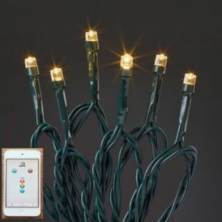 Hellum LED-Lichterkette 200 BS warmweiß/grün Smartphone außen