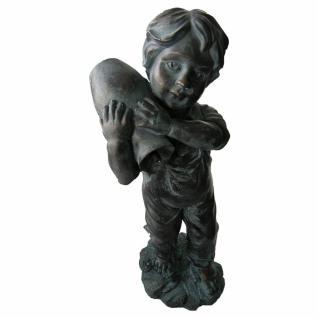 Wasserspeier Yannick im Bronze-Antik-Design, H 48 cm
