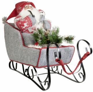 Weihnachtsmann Santaclaus Nikolaus MATS 45cm im Schlitten