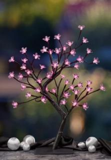 Hellum LED-Kirschblütenbaum 45cm 48 BS braun/pink