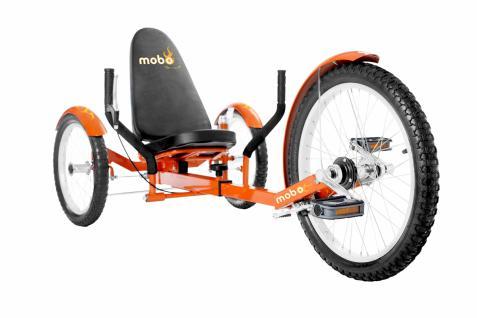 Mobo Triton Cruiser Pro Liegefahrrad Kinderdreirad - ORANGE - ab 12 Jahre bis Erwachsene