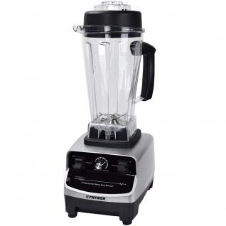 Syntrox Küchenmixer Standmixer BPA-frei, 1500 Watt, 40000 U/Min, 2 Liter, 6 Edelstahlklingen - LCD-Display - Zerkleinerer - Icecrusher - Getreidemühle - Vorschau 4