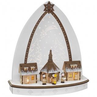 Weihnachtsleuchter, ww LEDs, Seifener Kirche mit Kurrende
