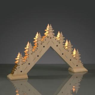 Hellum LED-Leuchter Holz Bäume 7 BS warmweiß/natur innen