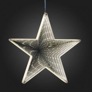 Hellum LED-Infinity-Stern z.Hängen 20cm 42 BS warmweiß innen