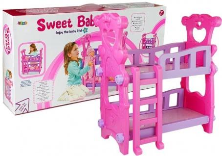 Etagenbett für Puppen Pink 53 cm x 54, 5 cm x 34 cm