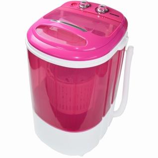 Syntrox 3, 8 Kg Waschmaschine mit Schleuder und Timer 200 W pink