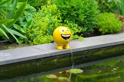Ubbink Wasserspiel BE HAPPY - Polystone, H19 x Ø16 cm, gelb - Vorschau 3