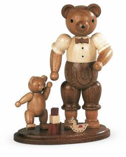 Müller-Kleinkunst aus dem Erzgebirge® seit 1899 Bärenvater mit spielendem Kind