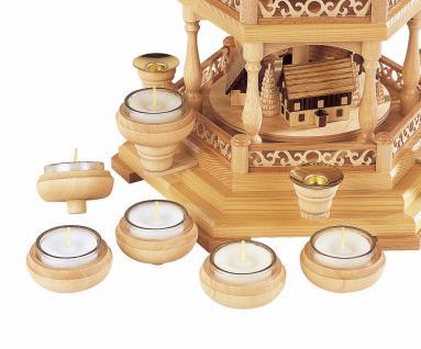 Müller-Kleinkunst aus dem Erzgebirge® seit 1899 Kerzenhalteraufsatz für Teelichte