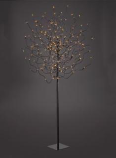 Hellum LED-Baum braun 150cm warmweiss aussen