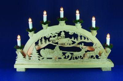 Leuchter Holz Jutta 10 BS klar/natur innen