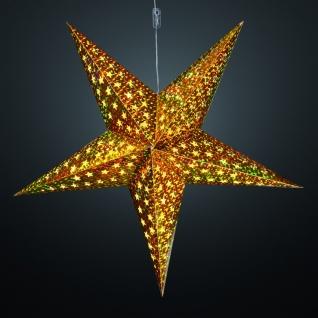 Hellum LED-Weihnachtsstern 60 cm warmweiß/gold batteriebetrieben