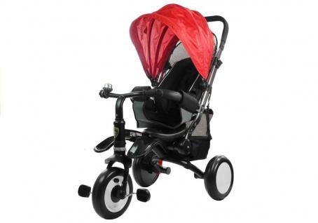 Dreirad PRO400 Rot Liegefunktion Lenkstange Schaumstoffräder Kinderdreirad