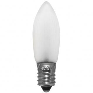 10 x LED-Topkerze satiniert matt E10/8-34V/0, 3W warmweiss