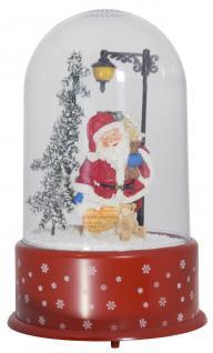Schneiende LED Kuppel 35 cm Motiv SANTA KAMIN, für INNEN