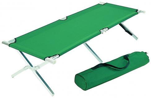 Alu Feldbett XL 200 x 68 cm, Gästebett, Klappbett grün