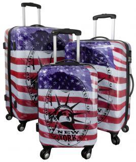 Kofferset Trolleyset Reisekoffer Hartschale 3tlg. NEW YORK II - Vorschau 2