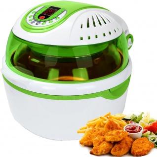"""Syntrox Turbo-Heißluftfritteuse Heißluftgarer Airfryer Küchenmaschine mit LED-Display """" grün"""""""