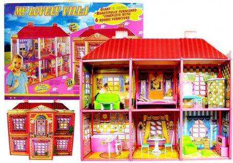 Puppenhaus große Villa Set 128 Elemente