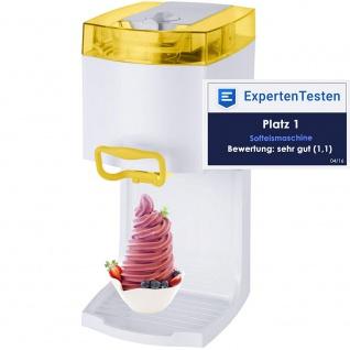 """Syntrox Softeismaschine Eismaschine Frozen Joghurt Maschine 4in1 """" gelb"""""""