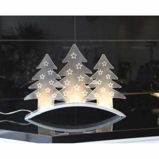 Weihnachtsleuchter, 9 warmweiße LEDs, PLEXI TREES