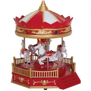 Tischdekoration JOKER Karusell, bunte LEDs und Musik