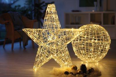 Hellum LED-Stern zerlegbar 100 BS warmweiss innen