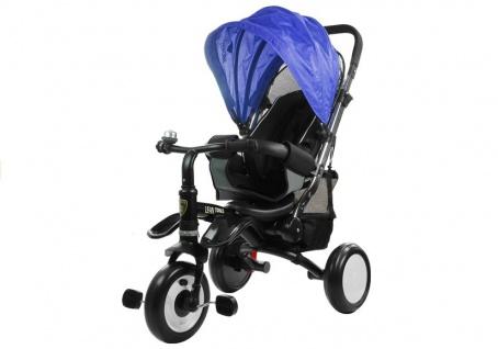Dreirad PRO400 Blau Liegefunktion Lenkstange Schaumstoffräder Kinderdreirad