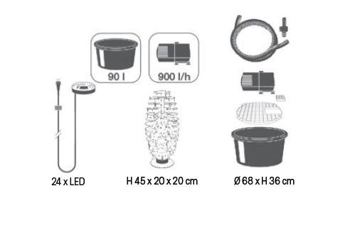 Ubbink Mires - Wasserspiel mit LED - Vorschau 3