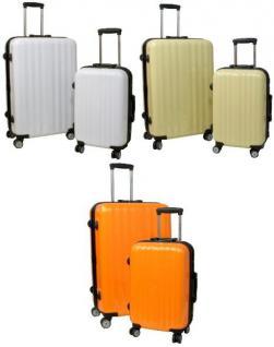 Kofferset 2 tlg. Trolleyset ABS Hartschale CAPRI mit TSA-Schloss