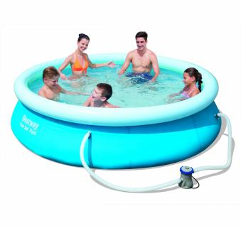 Bestway Fast Set Pool Set mit Filterpumpe 305 x 76 cm
