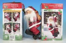 Weihnachtsmann Santaclaus am Seil, 25 cm, aus Polyresin