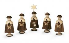 Müller-Kleinkunst aus dem Erzgebirge® seit 1899 Kurrende, 5 Figuren mittelgroß