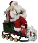 Weihnachtsmann Loki 70cm auf Eisenbahn