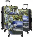 Kofferset 3 tlg. Trolleyset Reisekoffer Hartschale Havana